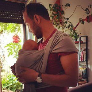 atelier portage en écharpe pour Papa - Echarpe&Comptine