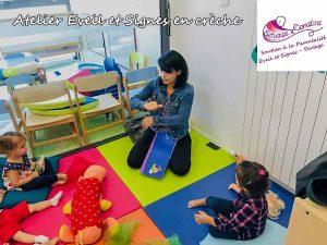 Atelier Eveil et Signes en crèche avec Echarpe&Comptine - signes associés à la parole
