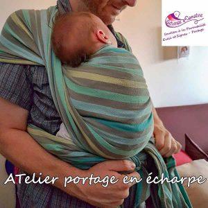 atelier-portage en écharpe pour Papa de Echarpe&comptine