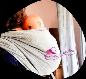 Echarpe&comptine - portage bébé-atelier